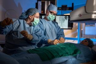 قسطرة الأوعية الدموية تحت توجيه الأشعة
